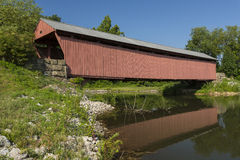 米尔顿被遮盖的桥 免版税图库摄影