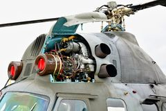 米尔Mi2直升机的电动子 库存照片