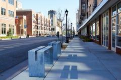 米尼亚波尼斯,美国- 2012年4月11日:米尼亚波尼斯街市街道 免版税库存图片