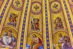 米开朗基罗圆顶圣伯多禄` s大教堂梵蒂冈罗马意大利 库存图片
