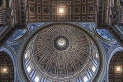 米开朗基罗圆顶圣伯多禄` s大教堂梵蒂冈 库存照片