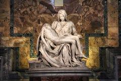 米开朗基罗圣母怜子图 库存图片