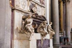 米开朗基罗坟茔大教堂二的三塔Croce 库存照片