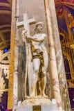 米开朗基罗基督圣玛丽亚Sopra智慧女神教会罗马意大利 图库摄影