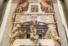 米开朗基罗墓碑细节  免版税库存照片