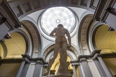 米开朗基罗大卫雕象在Accademia,佛罗伦萨,意大利 免版税库存图片