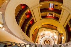 米开朗基罗旅馆圆形建筑看下来 免版税库存图片
