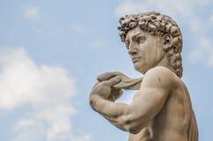 米开朗基罗的大卫雕象在佛罗伦萨,意大利 免版税库存照片