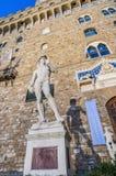 米开朗基罗的大卫雕象在佛罗伦萨,意大利 免版税库存图片