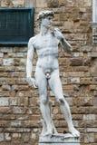 米开朗基罗的大卫,广场della Signoria,佛罗伦萨的拷贝 库存图片