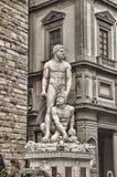 米开朗基罗的雕塑广场della Signoria,意大利 免版税图库摄影