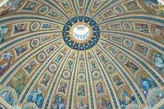 米开朗基罗设计了圣彼得大教堂圆屋顶  免版税库存图片