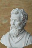米开朗基罗,古老意大利创造性的艺术家雕象  免版税库存照片