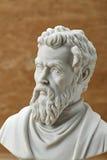 米开朗基罗,古老意大利创造性的艺术家雕象  免版税库存图片
