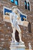 米开朗基罗`在广场della Signoria -佛罗伦萨,托斯卡纳,意大利的s大卫 免版税库存图片