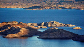 米德湖海岛-天线 免版税库存图片