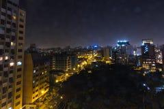 米拉弗洛雷斯利马在晚上 图库摄影