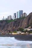 米拉弗洛雷斯,利马,秘鲁海岸  库存图片