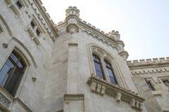 米拉马尔城堡的细节  图库摄影