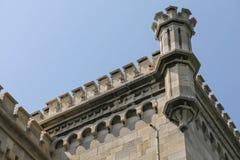 米拉马尔城堡的细节  免版税库存照片