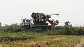 米收获机器 免版税库存图片