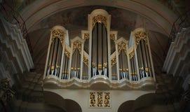 """米斯克†""""10月6日:巨大器官在大教堂里,大教堂  免版税库存照片"""