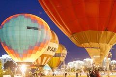 米斯克白俄罗斯, 2015年7月19日:国际空气球在期间 免版税库存图片