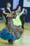 米斯克白俄罗斯, 2014年10月5日:未认出的专业舞蹈 库存照片