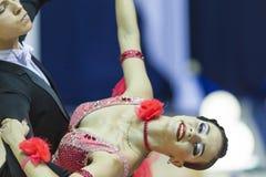 米斯克白俄罗斯, 2014年10月5日:Bol专业舞蹈夫妇  库存图片