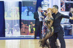 米斯克白俄罗斯, 10月4,2014 :未认出的专业舞蹈c 免版税图库摄影