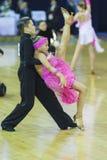 米斯克白俄罗斯, 10月5,2014 :未认出的专业舞蹈c 库存照片