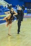 米斯克白俄罗斯, 10月5,2014 :未认出的专业舞蹈c 免版税图库摄影