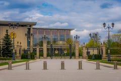 米斯克,白俄罗斯- 2018年5月01日:写道:独立的宫殿,共和国白俄罗斯的总统住所  宫殿 免版税库存图片