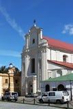 米斯克,白俄罗斯- 2013年8月01日:前天主教圣约瑟夫教会大厦  图库摄影