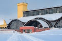 米斯克,白俄罗斯- 2017年1月15日:炫耀复杂奥林匹克储备 在米斯克合并国家奥林匹克培训中心在竞技方面,是 免版税库存照片