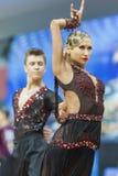 米斯克,白俄罗斯2月14,2015 :未认出的专业舞蹈 免版税图库摄影