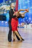 米斯克,白俄罗斯2月14,2015 :未认出的专业舞蹈 库存照片