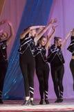 米斯克,白俄罗斯- 8月31 :?从舞蹈演播室飞溅hildren在2014年8月31日的联合音乐会在米斯克,白俄罗斯 库存图片