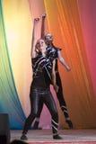 米斯克,白俄罗斯- 8月31 :?从舞蹈演播室飞溅hildren在2014年8月31日的联合音乐会在米斯克,白俄罗斯 免版税图库摄影