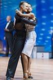 米斯克,白俄罗斯2月14,2015 :Ko专业舞蹈夫妇  库存图片