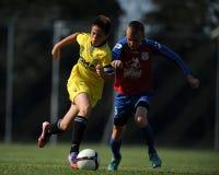 米斯克-布拉索夫在15足球赛以下 免版税库存图片