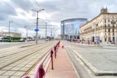 米斯克 Bobruisk街 图库摄影