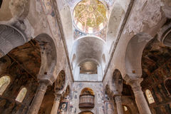 米斯特拉斯大都会大教堂 免版税图库摄影
