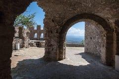 米斯特拉斯女修道院破坏希腊 免版税库存照片