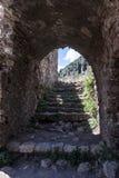 米斯特拉斯女修道院破坏希腊 免版税图库摄影