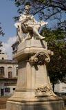 米格尔・德・塞万提斯Saavandra雕象  免版税库存图片