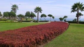 米格尔Grau公园在利马米拉弗洛雷斯区  库存图片