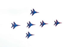 米格-29俄语Swifts 库存照片