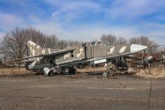 米格-23喷气式歼击机 免版税库存照片
