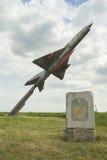 米格-21纪念碑 免版税图库摄影